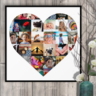 20 x 20 Heart Collage (30 photos)