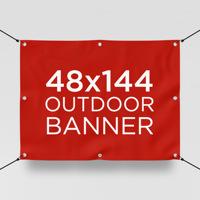 """48"""" x 144"""" Outdoor Banner"""
