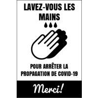 "Affiche Covid-19 blanche (24""x36"") - Vertical"