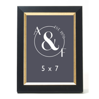 5x7 Black w/ Gold inset
