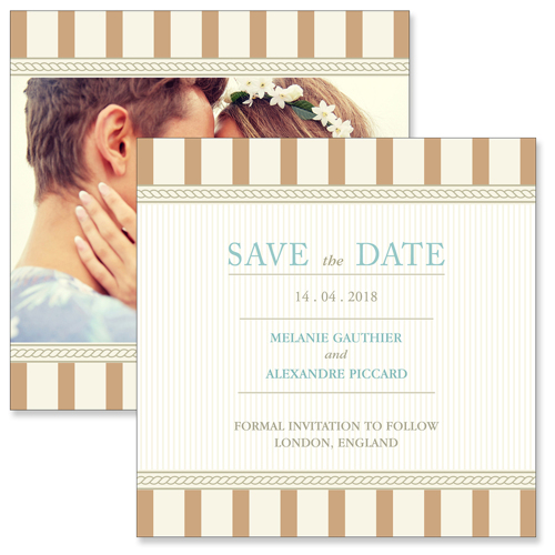 Vintage D - 2 Sided Save the Date
