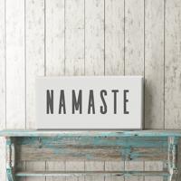 "Namaste 12""x24"" Canvas Print"