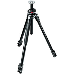 Manfrotto-290 DUAL Aluminum 3 Section Tripod with 90° Column #MT290DUA3-Tripods & Monopods