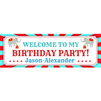 300x900mm  Birthday Circus Banner (DL Print)