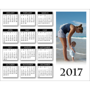 2017 - 8x10 Horizontal Poster Calendar