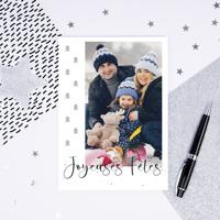 "Carte Joyeuses Fêtes (5""x7"") - Vertical"
