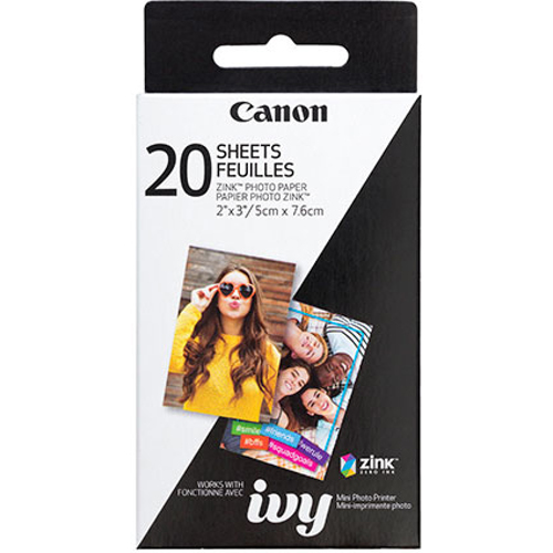 """Canon-Zink Photo Paper 2x3"""" - 20 Pack-Film"""
