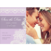 Lace A - 1 Sided Save the Date  5x7