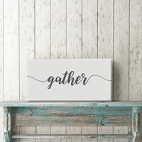 "Gather 12""x24"" Canvas Print"