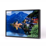 20x30 Horizontal Black Frame Metal Panel