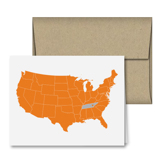 Tennessee Love Map Note Card