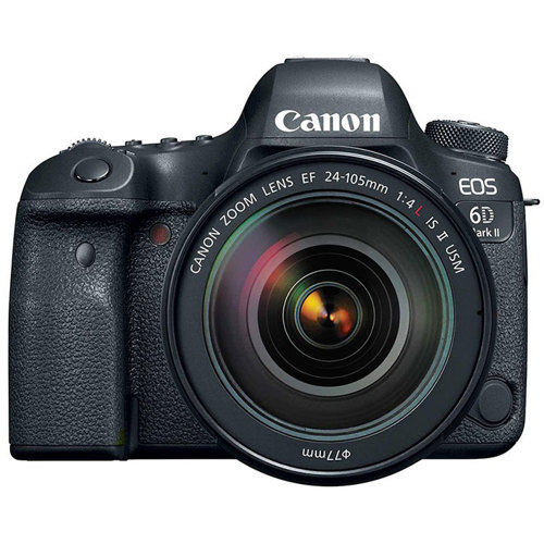 Canon-EOS 6D Mark II Digital SLR Camera with EF 24-105mm F4L IS II USM Lens-Digital Cameras