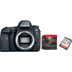 Canon-EOS 6D Mark II Digital SLR Camera - Body Only - with Premium Accessory Kit and 128 GB Memory Card-Digital Cameras