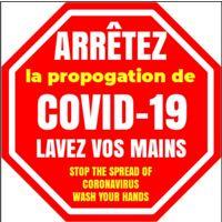 """Autocollant pour plancher Covid-19 (12""""x12"""")"""