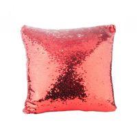 Coussin séquin rouge -Modèle libre