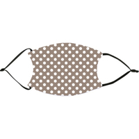 Taupe Polka Dots Face Mask
