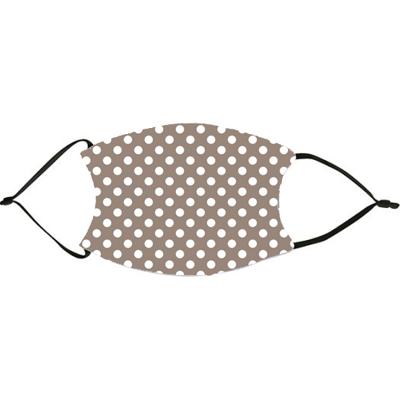 Taupe Polka Dots Face Mask