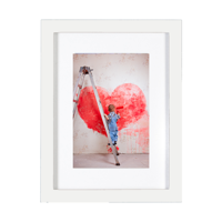 Snap 6x8 Matted Print & Frame Bundle with 4x6 Print - White