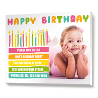 B-Day Candles Tear Pad