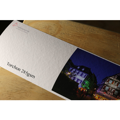 Hahnemuhle Torchon   285gsm Bright White Test Strip - 100x600mm Two part.