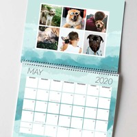 Center Bound Brushed Calendar: 2020
