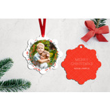 Berry Special Wreath Snowflake Ornament