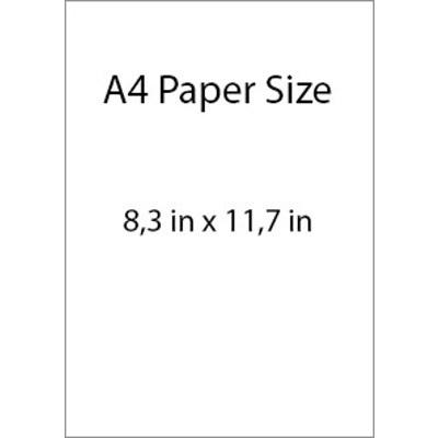 A4 Digital Print Horizontal