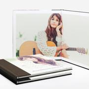 Book Layflat Linen Photo Cover 11x11