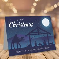 50 x A5 Landscape Nativity Christmas Cards