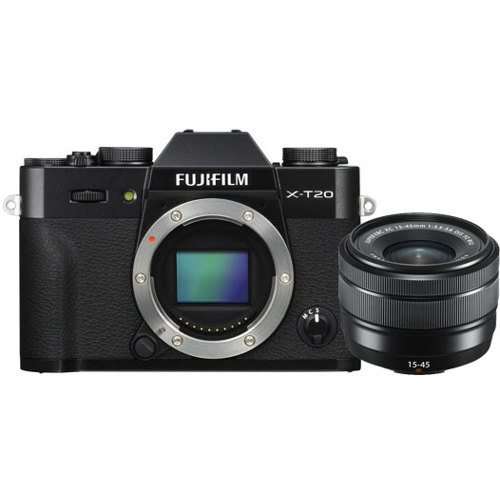 Fujifilm-X-T20 Compact System Camera with XC15-45mm F3.5-5.6 Lens-Digital Cameras