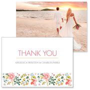 Floral - 2 Sided Thank You  3.5x5
