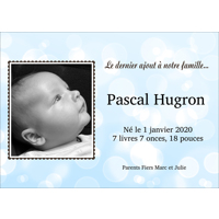 "Carte Bulle (7""x5"") - Horizontal"