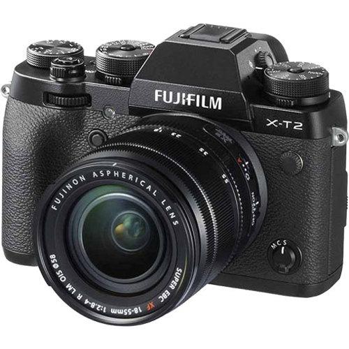 Fujifilm-X-T2 Compact System Camera with XF 18-55mm F2.8-4 R LM OIS Lens-Digital Cameras