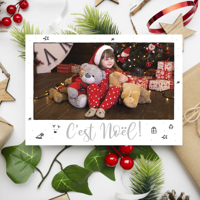"Carte C'est Noël! (5""x7"") - Horizontal"