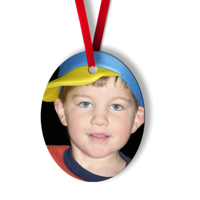 Oval Metal Ornament - 1S