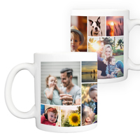 15 oz. Ceramic Mug Collage - 12 images