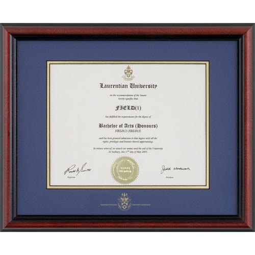 Laurentian University Bostonian Diploma Frame - LAURENTIAN1215BS ...