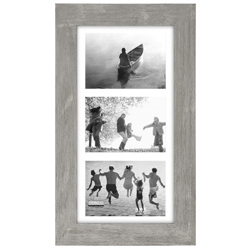 Malden-3 Opening  5x7 Gray Matted-Photo Frames
