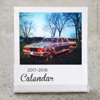 White Border Desktop Calendar 2017-2018