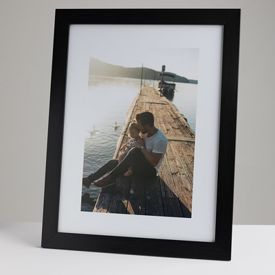 300x400mm Print in a 30mm Black Frame with a 200x300mm image  (50mm white space on all sides)