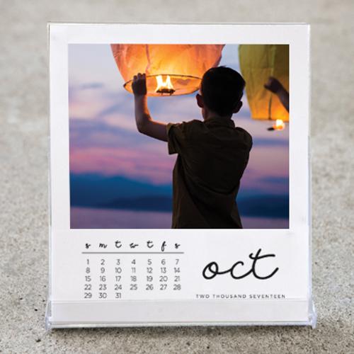 White Border Desktop Calendar 2020