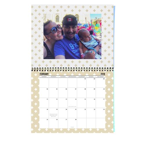 Center Bound Geometric Calendar: 2018