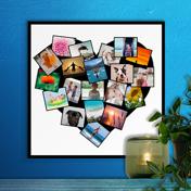 12 x 12 Heart Collage (20 photos)