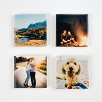 4pk Ceramic Photo Magnets