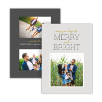 Pin Stripes: 10pk Holiday Cards