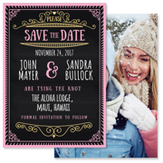 Chalkboard - 2 Sided Save the Date  5x7