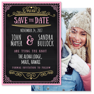 Chalkboard - 2 Sided Save the Date