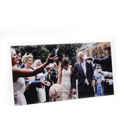 8x24 Gloss White Metal Print