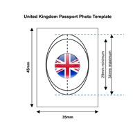 United Kingdom Passport Photo Template