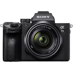 Sony-a7 III Full-frame Mirrorless Interchangeable-Lens Camera with FE 28-70mm OSS Lens - Black-Digital Cameras